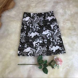 Maidn LA Black & White Print Skirt, size Small